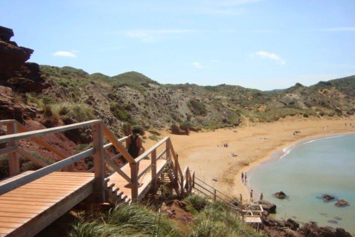 Cap de Cavalleria, acceso a la playa. Menorca