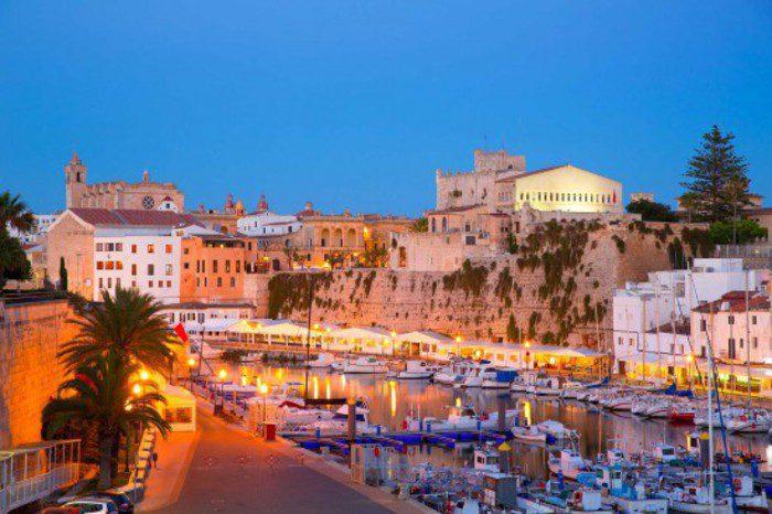 Ciutadela port at night