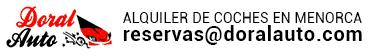 Alquiler de coches en Menorca. Oferta de alquiler de coches baratos sin franquicia en Menorca. logo