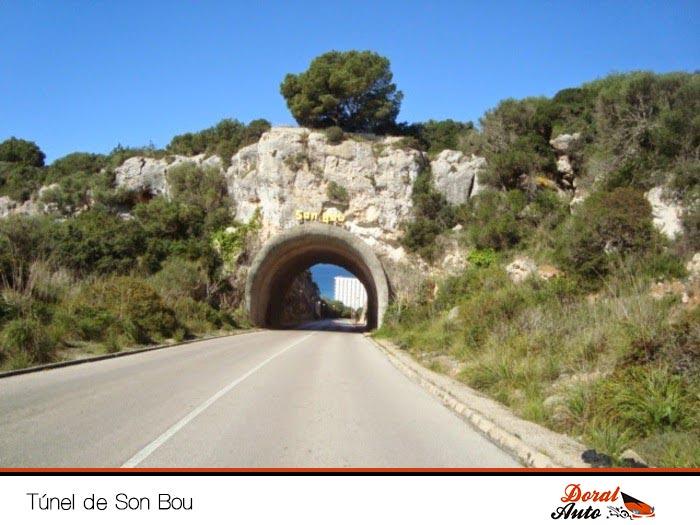 Túnel Son Bou, camino a calan porter