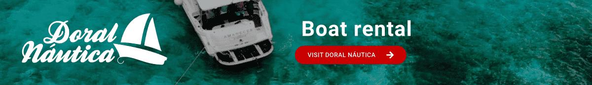Boat charter in Menorca