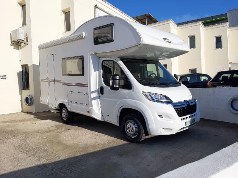 White campervan