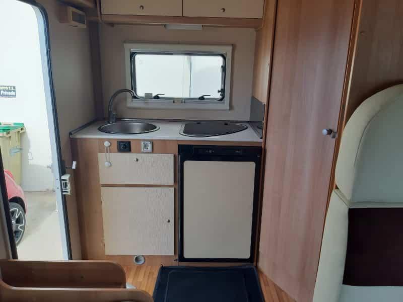 Menorca in campervan kitchen