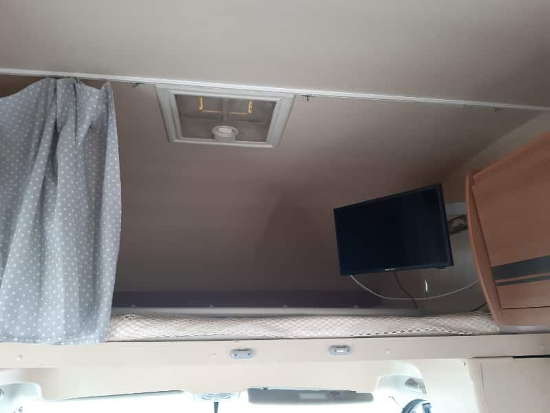 Menorca in a double bed campervan with TV